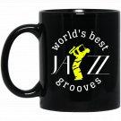 JazzWorldQuest - World_s Best Jazz Grooves Black  Mug Black Ceramic 11oz Coffee Tea Cup