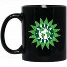 Green Party Earth Logo Black  Mug Black Ceramic 11oz Coffee Tea Cup