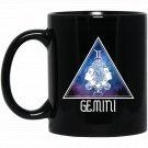 Gemini In Galaxy Zodiac Horoscope Birthday Gift Black  Mug Black Ceramic 11oz Coffee Tea Cup