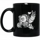 Funny Space Astronaut Black  Mug Black Ceramic 11oz Coffee Tea Cup