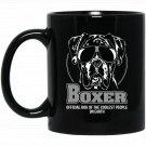 Funny Proud Boxer dog hund gift Black  Mug Black Ceramic 11oz Coffee Tea Cup