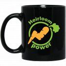 Funny Heirloom Power Carrot Black  Mug Black Ceramic 11oz Coffee Tea Cup