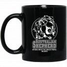 Funny Aussie cool gif dog hund Black  Mug Black Ceramic 11oz Coffee Tea Cup