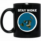 Flat Earth Stay Woke Black  Mug Black Ceramic 11oz Coffee Tea Cup