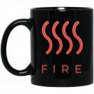 Fire Elemental Witchcraft Black  Mug Black Ceramic 11oz Coffee Tea Cup