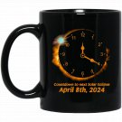 Cool Countdown To Next Solar Eclipse - April 2024 Black  Mug Black Ceramic 11oz Coffee Tea Cup