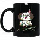 Christmas Lights Havanese Santa Havanese Black  Mug Black Ceramic 11oz Coffee Tea Cup