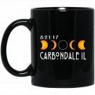Carbondale Illinois Total Solar Eclipse 2017 Black  Mug Black Ceramic 11oz Coffee Tea Cup