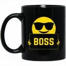 Boss Emoticon Sunglasses Supervisor Manager Black  Mug Black Ceramic 11oz Coffee Tea Cup