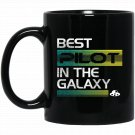 Best Pilot In The Galaxy Pilo Black  Mug Black Ceramic 11oz Coffee Tea Cup