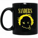 BERNIE SANDERS 2020 Grundge Punk Rock DISTRESSED Black  Mug Black Ceramic 11oz Coffee Tea Cup