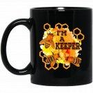 Beekeeper I_M A KEEPER Bee Hives Matter s Black  Mug Black Ceramic 11oz Coffee Tea Cup