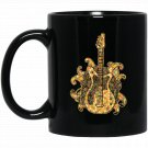 Bass Guitar - Bass Guitar Geometric Black  Mug Black Ceramic 11oz Coffee Tea Cup