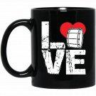 Bass Drum - Love Bass Drum Black  Mug Black Ceramic 11oz Coffee Tea Cup