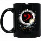 Bass and Clef with Solareclipse Fantasy Musician Black  Mug Black Ceramic 11oz Coffee Tea Cup