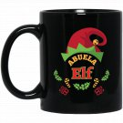 Abuela Elf Ugly Christmas Sweater Funny Black  Mug Black Ceramic 11oz Coffee Tea Cup