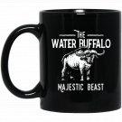 The Water Buffalo! Majestic Beast Wilderness Black  Mug Black Ceramic 11oz Coffee Tea Cup