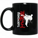 Taekwondo - Martial Arts Graphic Black  Mug Black Ceramic 11oz Coffee Tea Cup