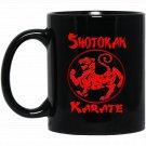 Shotokan Tiger Karate Black  Mug Black Ceramic 11oz Coffee Tea Cup