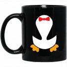 Penguin Tuxedo Halloween Costume Cute Funny Black  Mug Black Ceramic 11oz Coffee Tea Cup