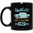 Not Old Classic Born and Made In 1957 Birthday Gifts T Black  Mug Black Ceramic 11oz Coffee Tea Cup
