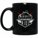 Naughty Is The New Nice Black  Mug Black Ceramic 11oz Coffee Tea Cup