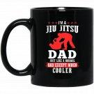 Mens T I AM JIU JITSU DAD Small Baby Blue Black  Mug Black Ceramic 11oz Coffee Tea Cup