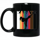 Martial Arts Karate for Girls and Women - Karate Belts Black  Mug Black Ceramic 11oz Coffee Tea Cup