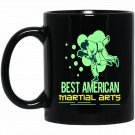 Martial Arts Apparel - American Fighting Black  Mug Black Ceramic 11oz Coffee Tea Cup