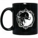 Martial Arts - Ying Yang MMA Taekwondo Karate Black  Mug Black Ceramic 11oz Coffee Tea Cup