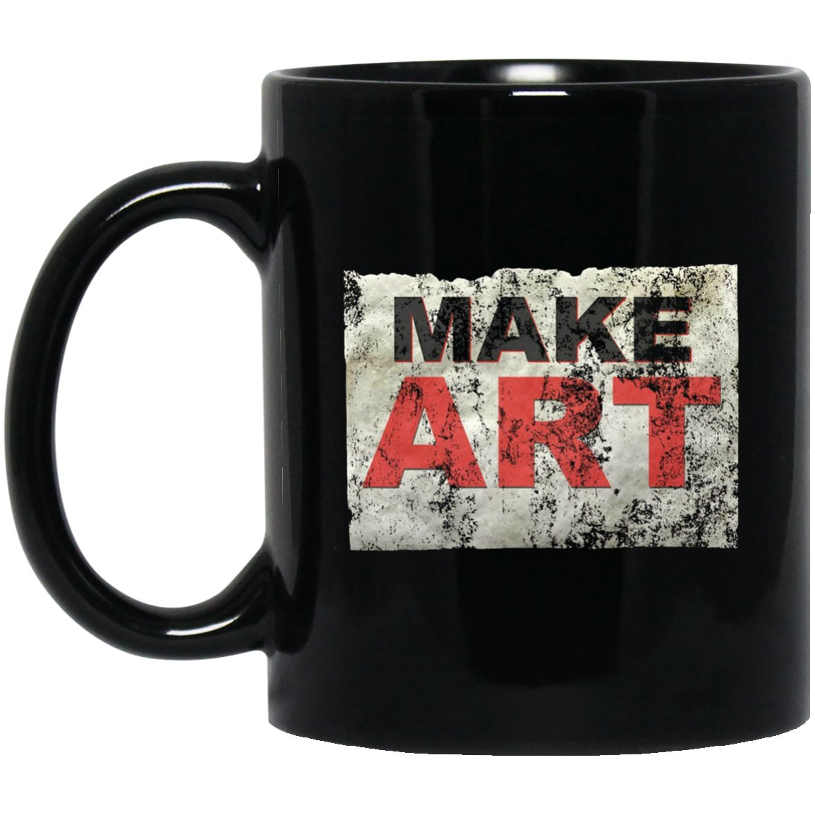 Make Art by Make Art s Black  Mug Black Ceramic 11oz Coffee Tea Cup
