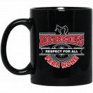 Kickboxing Respect For All Fear None Martial Arts Black  Mug Black Ceramic 11oz Coffee Tea Cup