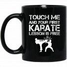 Karate Teacher Martial Arts Coach Instructor Gift Black  Mug Black Ceramic 11oz Coffee Tea Cup