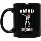 Karate Squad Dabbing Boy Funny Dab for kids Black  Mug Black Ceramic 11oz Coffee Tea Cup