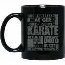 KARATE A-Z Karate Glossary Design Black  Mug Black Ceramic 11oz Coffee Tea Cup