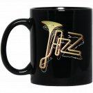 Jazz Rock Vintage Concert Trumpet Player Band 3d Black  Mug Black Ceramic 11oz Coffee Tea Cup