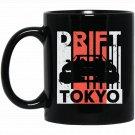 Japan Car Drifting Drift Tokyo Black  Mug Black Ceramic 11oz Coffee Tea Cup