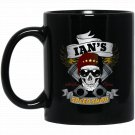 Ians Speed Shop - Funny Hot Rod Car Guy Black  Mug Black Ceramic 11oz Coffee Tea Cup