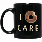 i donut care donut donut puns i do not car Black  Mug Black Ceramic 11oz Coffee Tea Cup