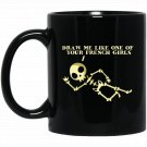 Halloween Draw Me Like One of Your French Girls Black  Mug Black Ceramic 11oz Coffee Tea Cup
