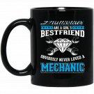 GIRLS BEST FRIEND Funny Mechanics Auto Diesel Back Black  Mug Black Ceramic 11oz Coffee Tea Cup