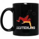 Germany Soccer Team Fan German Pride Flag Roots Black  Mug Black Ceramic 11oz Coffee Tea Cup