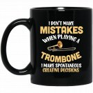 Funny Trombone T for trombonist Black  Mug Black Ceramic 11oz Coffee Tea Cup