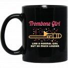Funny Trombone Girl Trombone Player Novelties Gift Black  Mug Black Ceramic 11oz Coffee Tea Cup