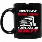 Funny Road Rage Driving Maniac Black  Mug Black Ceramic 11oz Coffee Tea Cup
