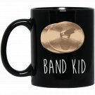 Funny Cymbals , Band Kid Marching Band Player Gift Black  Mug Black Ceramic 11oz Coffee Tea Cup