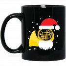 Funny Christmas Santa Tuba Player Gift Heavy Metal Black  Mug Black Ceramic 11oz Coffee Tea Cup