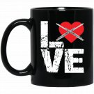 Flute - Love Flute Black  Mug Black Ceramic 11oz Coffee Tea Cup