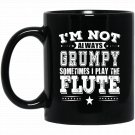 Flute Flute Player Gift Gift For Musician Black  Mug Black Ceramic 11oz Coffee Tea Cup