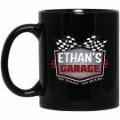 Ethans Garage Funny Car Guy - My Tools My Rules Black  Mug Black Ceramic 11oz Coffee Tea Cup